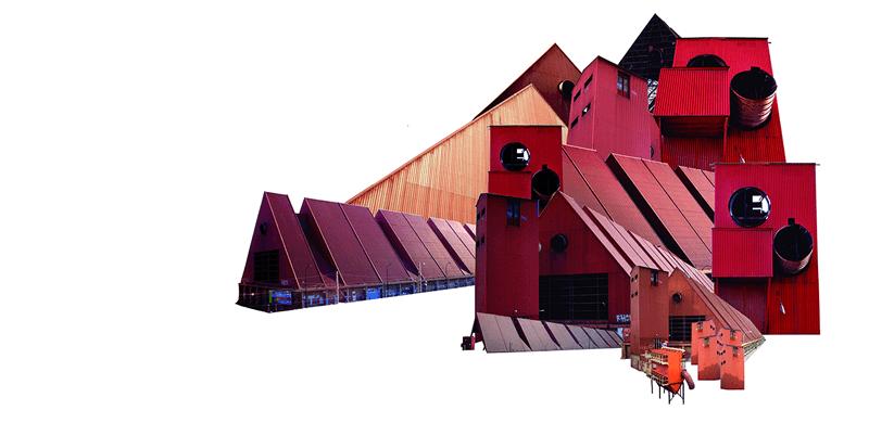 Collage. Arqueología industrial.MÁRGENES ARQUITECTURA, nº7