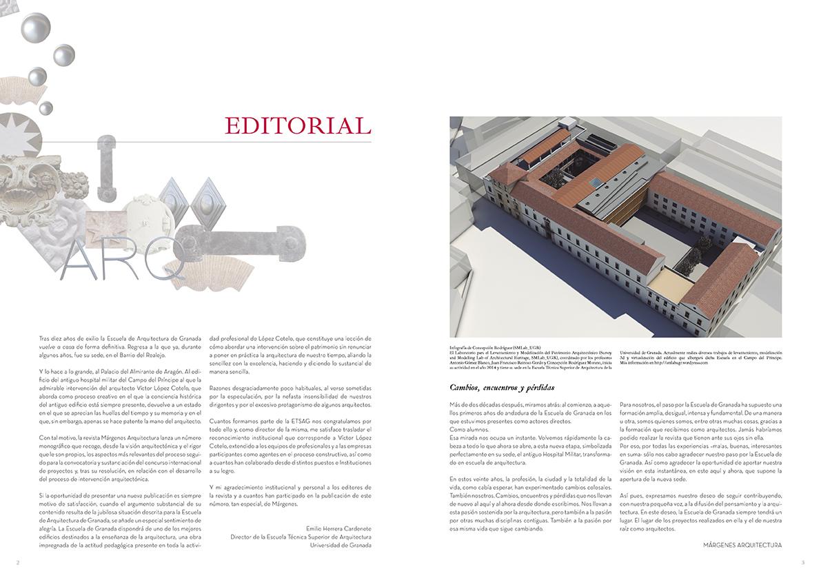 Editorial. La escuela de Granada. MÁRGENES ARQUITECTURA, nº8